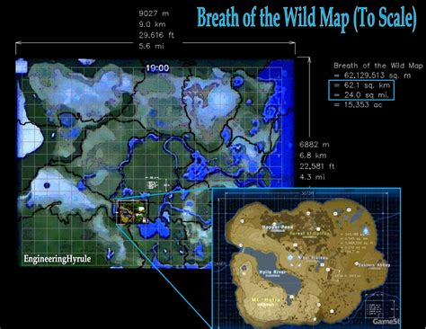 Analyzing BOTW Map Size: CAD Approach + Google Earth File
