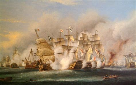 Lord Nelson victorious at Cape Trafalgar