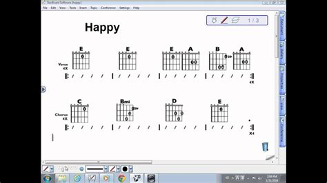 flow of song and chord progression for Happy - YouTube