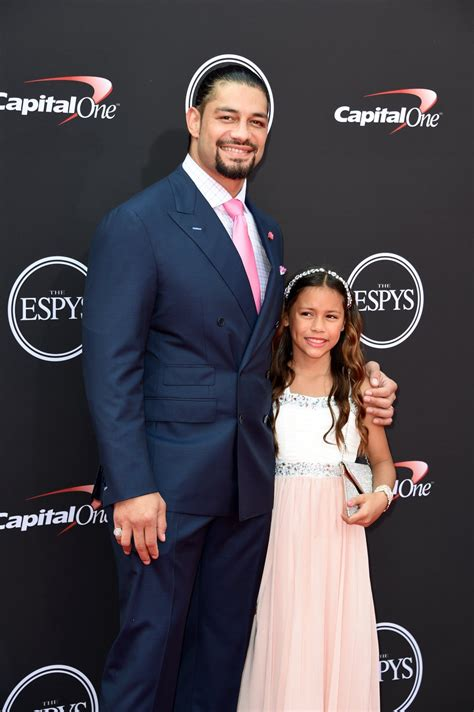 WWE Superstar Roman Reigns (Leati Joseph Anoa'i) with his
