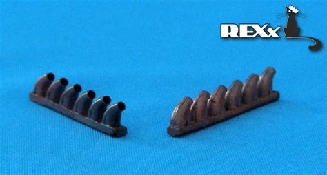 Accessories | REXX metal exhaust pipes for 1/48 Bell P-39